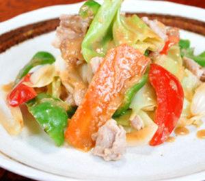 豚肉とキャベツの味噌炒めイメージ